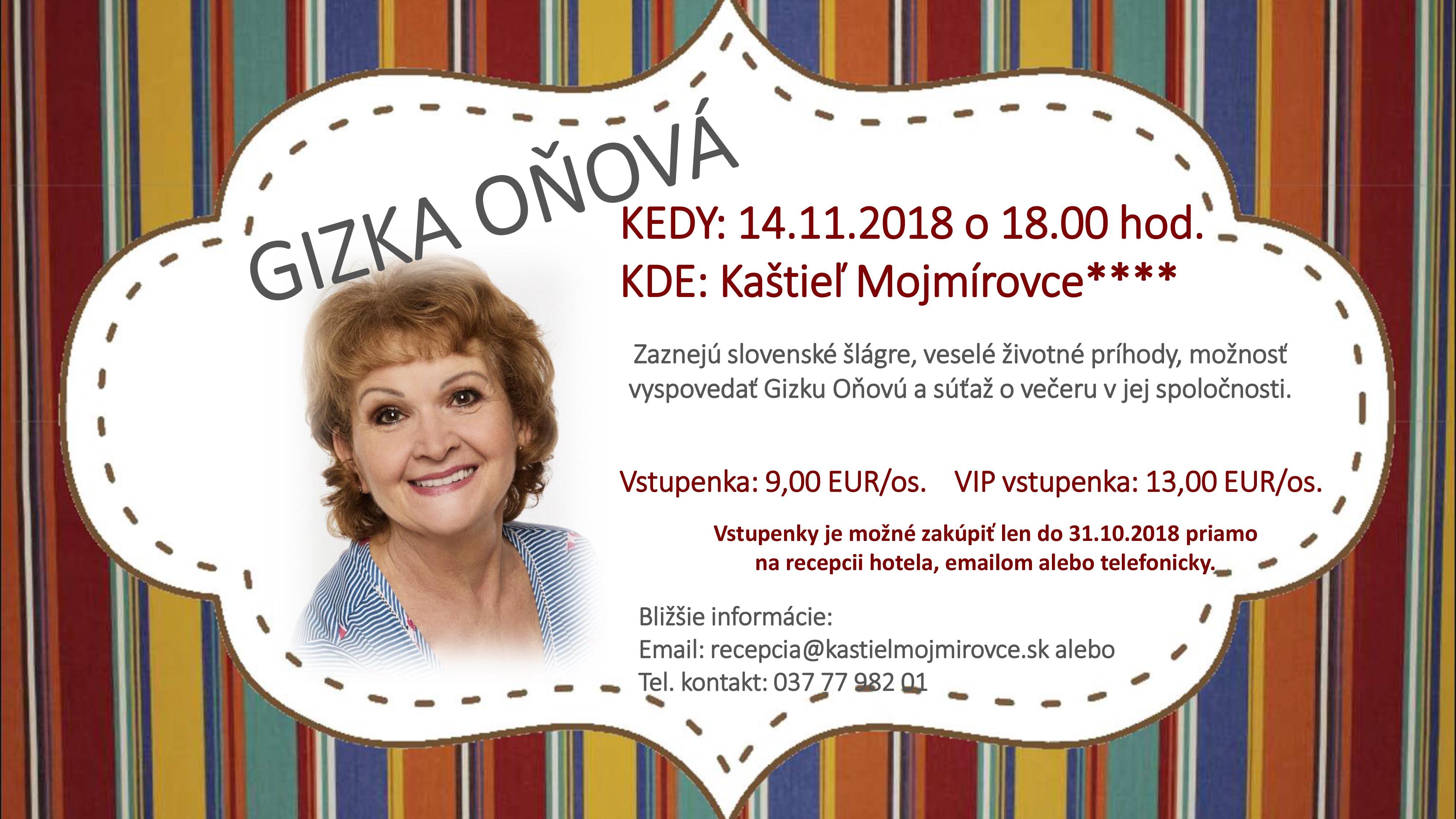 Koncert Gizky Oňovej